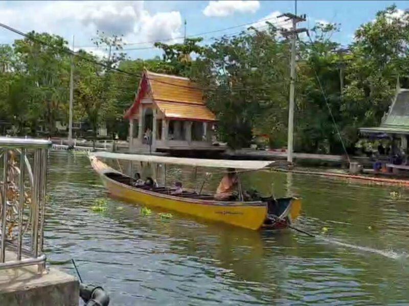 สมุทรสาคร  ชาวบ้านนั่งพักศาลาหน้าวัด บังเอิญถ่ายคลิปนาทีเด็กกระโดดเล่นน้ำ พลาดท่าตกมาใส่เรือโดยสารได้รับบาดเจ็บสาหัส