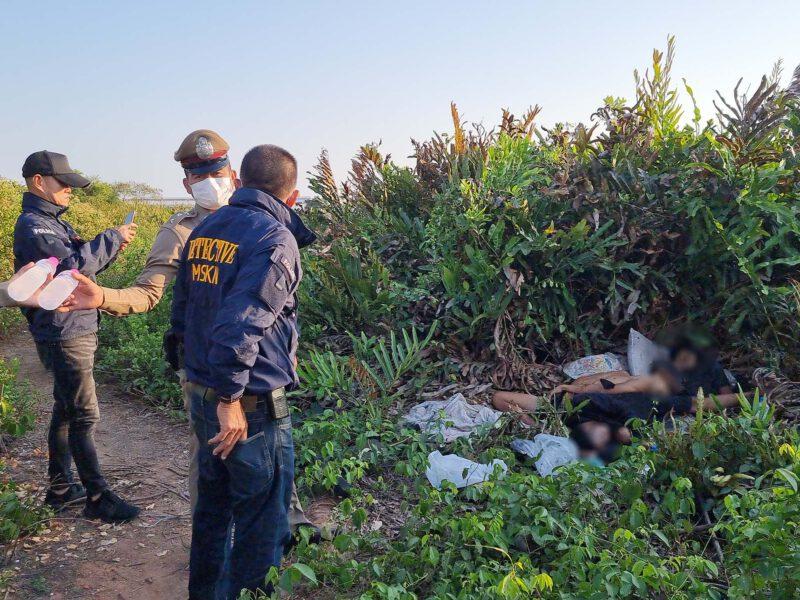 สมุทรสาคร  สุดโหดจ่อยิงหัว 3 วัยรุ่นตายคาป่าปือศพกองรวมกัน